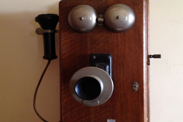 James Wallace photo of a vintage telephone wall-mounted