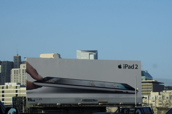 James Wallace photo of Apple ipad advertisement