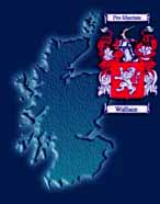 James Wallace map Scotland Wallace coat of arms