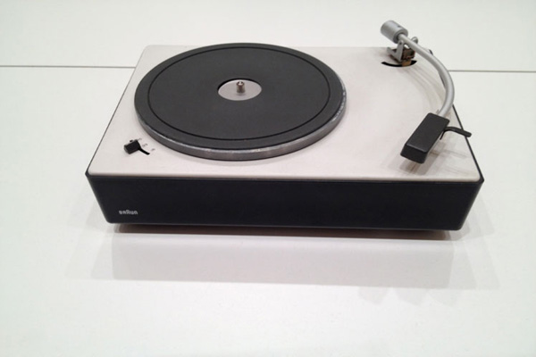James Wallace photo of a record turntable in a museum